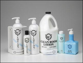 cleanroom static control lotions
