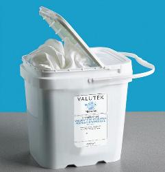 Tub of Presaturated Nonwoven Wipers