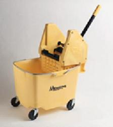 cleanroom cleaning supplies yellow plastic mop bucket casters