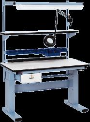 Workstation w/ ESD Safe Laminate Top, Electric Height Adjust