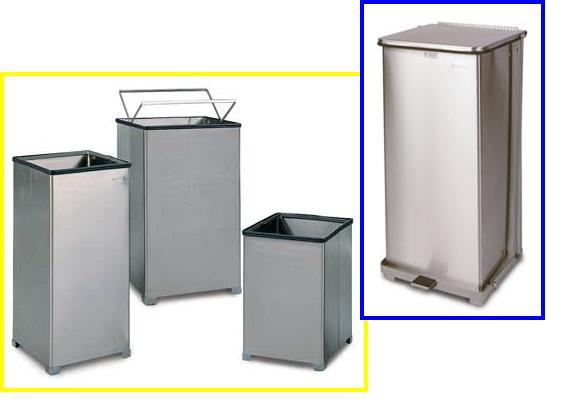 cleanroom gowning room components waste receptcles