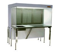 cleanroom inflow cabinet blower below