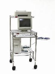Cleanroom Storage Mobile Computer Workstation