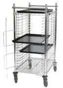 Cleanroom Storage Electronic Vibration Dampening Tray Cart