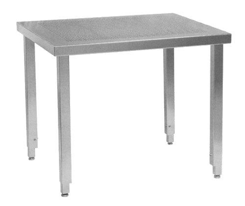 Perforated Stainless Steel Cleanroom Tables / Workbenches