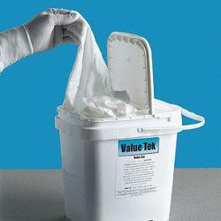 Tub of Presaturated Polyester Wipers