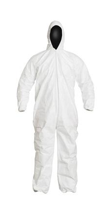 Disposable Coverall with Attached Hood