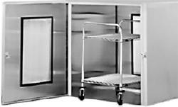 Floor Mounted Stainless Steel Pass Thru Cabinet - 18F