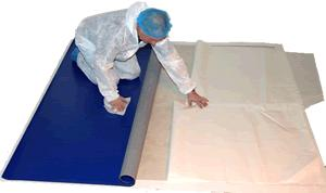 cleanroom static control flooring installation supplies