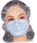 Disposable Cleanroom Face Mask with Single Retention Band