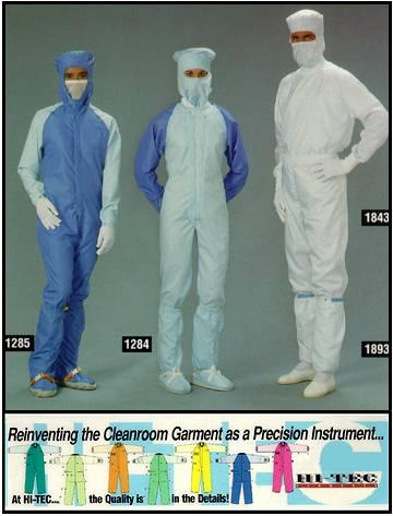 Launderable Cleanroom Clothing